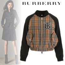 Burberry Short Other Check Patterns Casual Style Street Style Jackets