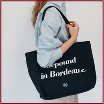 depound Unisex Street Style A4 Plain Totes