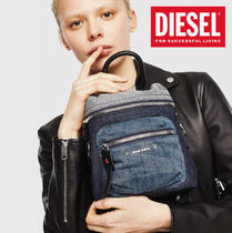DIESEL Denim Blended Fabrics Street Style 3WAY Plain Leather Logo