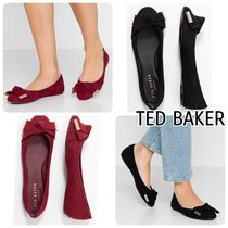 TED BAKER Round Toe Casual Style Suede Plain Flats