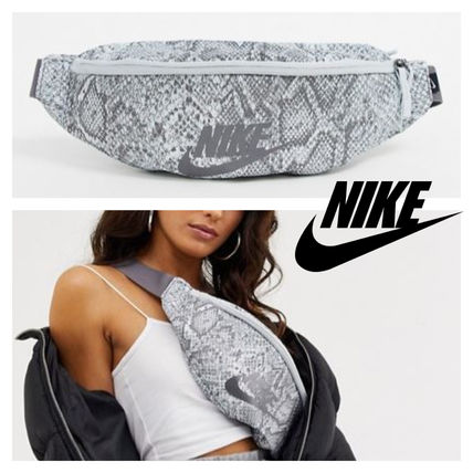 Casual Style Street Style Python Shoulder Bags