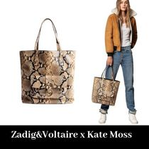 ZADIG & VOLTAIRE Collaboration A4 Other Animal Patterns Totes