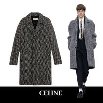 CELINE Tweed Long Coats