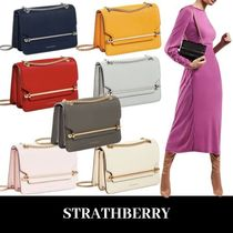 STRATHBERRY Casual Style Blended Fabrics Leather Shoulder Bags
