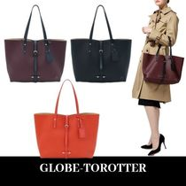 GLOBE TROTTER Unisex A4 Plain Office Style Elegant Style Totes