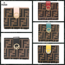 FENDI F IS FENDI Calfskin Folding Wallets