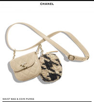 CHANEL Other Check Patterns Lambskin Blended Fabrics 2WAY Bi-color