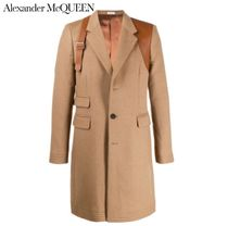 alexander mcqueen Wool Leather Long Chester Coats