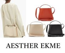 AESTHER EKME 2WAY Plain Leather Elegant Style Shoulder Bags
