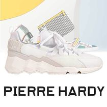 Pierre Hardy Street Style Plain Leather Sneakers