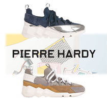 Pierre Hardy Street Style Bi-color Leather Sneakers