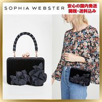 SOPHIA WEBSTER Chain Plain Leather Party Style Elegant Style Handbags