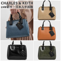 Charles&Keith Faux Fur 2WAY Bi-color Plain Other Animal Patterns