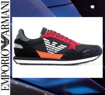 EMPORIO ARMANI Suede Blended Fabrics Street Style Leather Sneakers