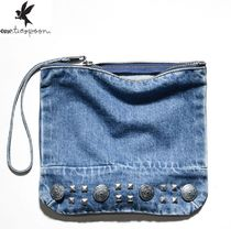 One Teaspoon Casual Style Unisex Studded Plain Clutches