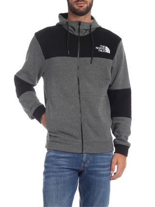 THE NORTH FACE Hoodies Blended Fabrics Street Style Bi-color Long Sleeves Cotton