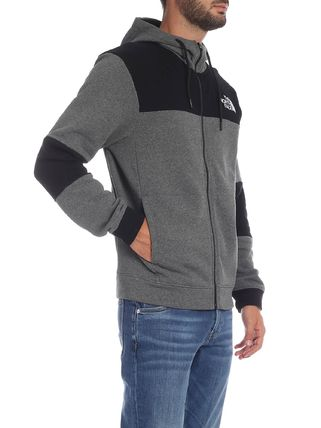 THE NORTH FACE Hoodies Blended Fabrics Street Style Bi-color Long Sleeves Cotton 2