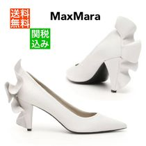 MaxMara Casual Style Sheepskin Plain Leather Party Style