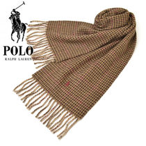 POLO RALPH LAUREN Glen Patterns Unisex Wool Heavy Scarves & Shawls