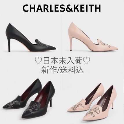 Charles&Keith Casual Style Faux Fur Plain Party Style Elegant Style
