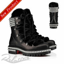 Christian Louboutin Plain Toe Mountain Boots Studded Plain Outdoor Boots