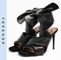 TOPSHOP Casual Style Leather Pin Heels Heeled Sandals