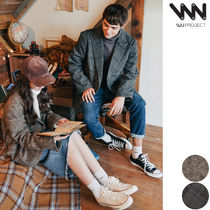 WV PROJECT Glen Patterns Unisex Street Style Oversized Jackets