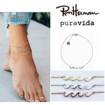 Ron Herman Unisex Silver Anklets