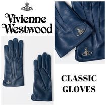 Vivienne Westwood Plain Leather Leather & Faux Leather Gloves