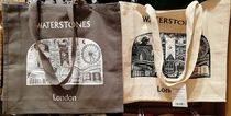 Waterstones Unisex Canvas A4 Shoppers