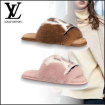 Louis Vuitton Blended Fabrics Slippers Co-ord Logo Shoes