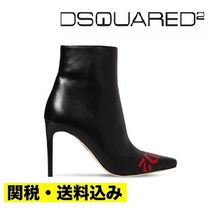 D SQUARED2 Leather Pin Heels Ankle & Booties Boots