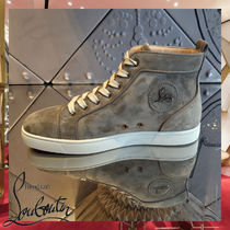Christian Louboutin Street Style Leather Sneakers
