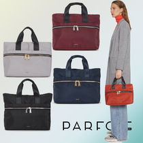 PARFOIS Casual Style Nylon 2WAY Plain Totes