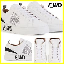 F_WD Casual Style Leather Low-Top Sneakers