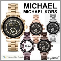 Michael Kors Round Stainless With Jewels Elegant Style Digital Watches