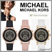 Michael Kors Casual Style Blended Fabrics Silicon Round Stainless