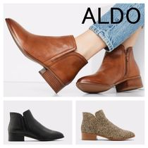 ALDO Leopard Patterns Round Toe Casual Style Spawn Skin Plain