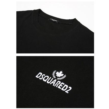 D SQUARED2 Long Sleeve Unisex Street Style Long Sleeves Cotton Logos on the Sleeves 2