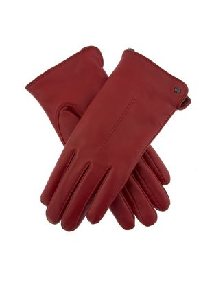 Plain Leather Bold Eco Fur Leather & Faux Leather Gloves