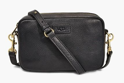 Casual Style Leather Logo Shoulder Bags
