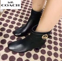 Coach Casual Style Plain Leather Boots Boots