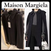 Maison Margiela Wool Plain Medium Handmade Elegant Style Peacoats