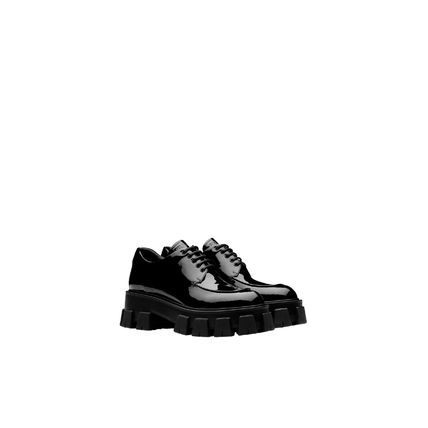 PRADA Monolith Patent Leather Laced Shoes