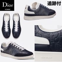 DIOR HOMME Unisex Blended Fabrics Leather Handmade Sneakers