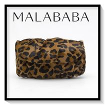 Malababa Leopard Patterns Leather Elegant Style Clutches
