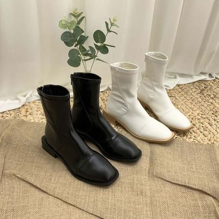 Ankle & Booties Square Toe Casual Style Faux Fur Plain Other Animal Patterns 2