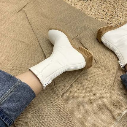 Ankle & Booties Square Toe Casual Style Faux Fur Plain Other Animal Patterns 10