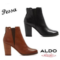 ALDO Round Toe Casual Style Plain Leather Chelsea Boots