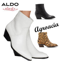 ALDO Cowboy Boots Casual Style Plain Other Animal Patterns